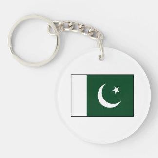 Paquistán - bandera paquistaní llavero redondo acrílico a doble cara
