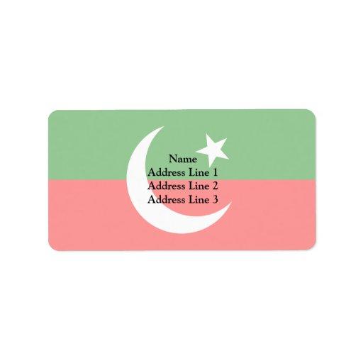 Paquistán Tehreek E Insaf, bandera de Colombia Etiqueta De Dirección