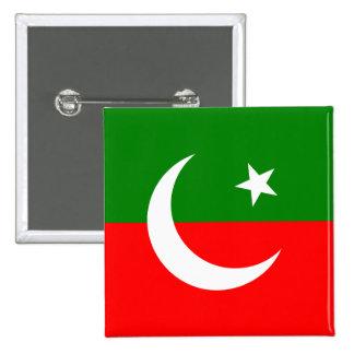 Paquistán Tehreek E Insaf, bandera de Colombia Pin Cuadrada 5 Cm