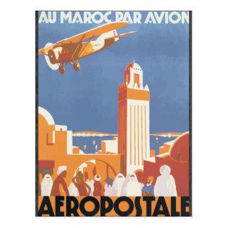 Par Avion Aeropostale, vintage de Maroc del Au Tarjetas Postales