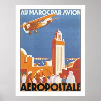 Par Avion de Maroc del Au Impresiones