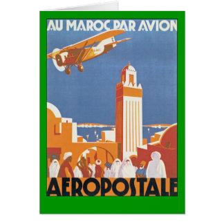 Par Avion de Maroc del Au Tarjeta De Felicitación