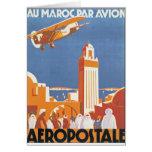 Par Avion de Maroc del Au Tarjeton