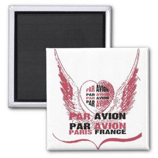 Par Avion heart Wings Paris Magnet