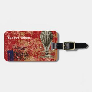 Par Avion Vintage Hot Air Balloon Luggage Tag