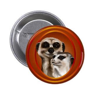 Par-Botones de Meerkat Pin Redondo 5 Cm