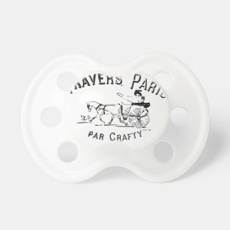 Par Crafty Paris Horse and Buggy Baby Pacifier