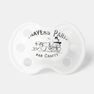 Par Crafty Paris Horse and Buggy Pacifier