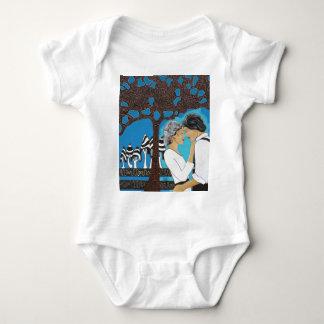 Par de enamorado body para bebé
