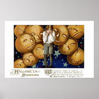 Par de Jack O Lanterns en el vintage Hallowe en de Posters