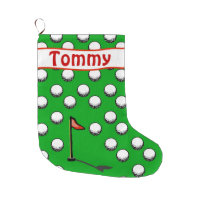 Par for the course! large christmas stocking