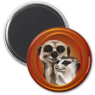 Par-Imanes de Meerkat Imán Redondo 5 Cm