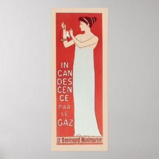 Par le Gaz de la incandescencia de Realier Dumas M Poster