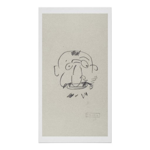 Par Lui-Meme (lápiz de Lautrec de la carga en el p Póster