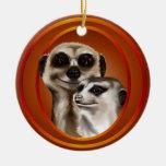 Par-Ornamentos de Meerkat Ornamento De Reyes Magos