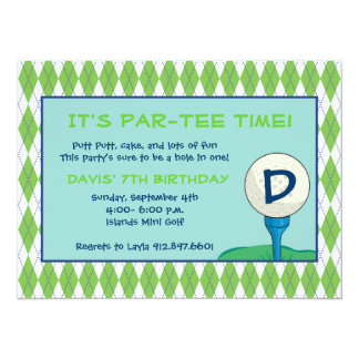 Par-Tee Time Boy Card