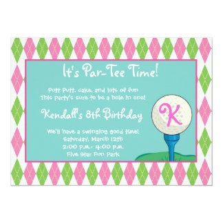 Par-Tee Time Girl Card