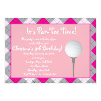 Par-Tee Time Girl Personalized Invitation