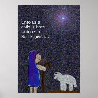 Para a nosotros un niño es poster nacido del navid
