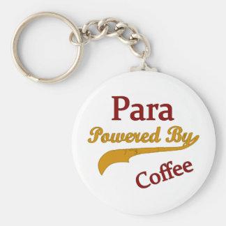 Para accionaron por el café llavero redondo tipo pin