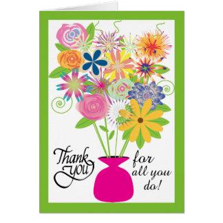 Para agradecerle el el día del profesional tarjeta de felicitación