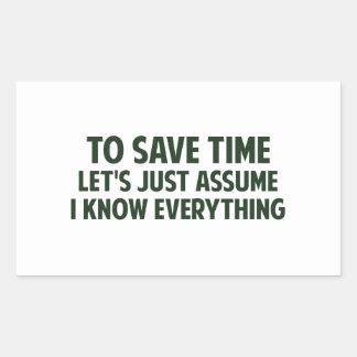 Para ahorrar tiempo acaba de dejarnos asumirme pegatina rectangular