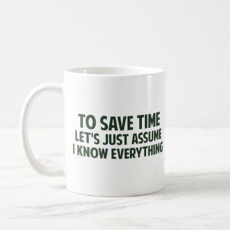Para ahorrar tiempo acaba de dejarnos asumirme taza de café