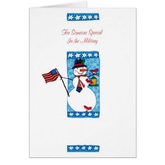 Para alguien especial en los militares tarjeta de felicitación