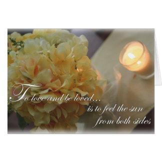 Para amar y ser tarjeta amada el casarse o de