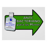 Para Antis-Bacteriano Las Manos Posters