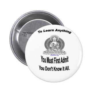 Para aprender cualquier cosa pin redondo 5 cm
