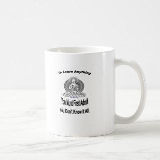 Para aprender cualquier cosa taza de café