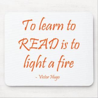 Para aprender leer es encender un fuego alfombrillas de ratón