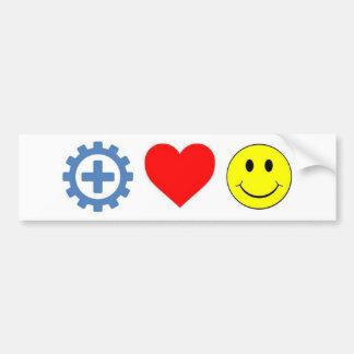 Para arriba-cambio, amor, pegatina de la felicidad etiqueta de parachoque