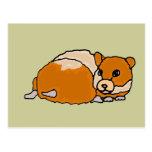 Para arriba encrespado dibujo animado divertido de tarjeta postal