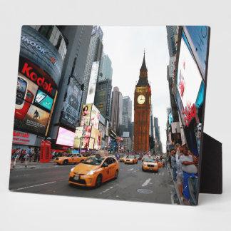 ¡Para arriba mezclado mundo - New York City y Lon Placa De Plastico
