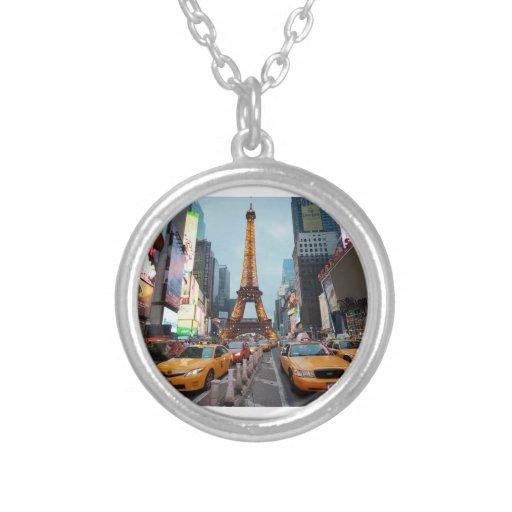 Para arriba mezclado mundo - New York City y París Colgante