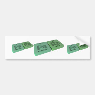 Para as Pa Protactinium and Ra Radium Bumper Stickers
