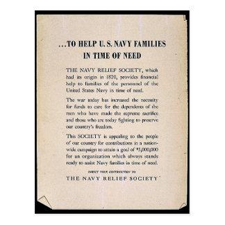 Para ayudar a las familias de la marina americana  postales