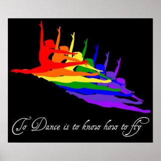 Para bailar es saber volar la impresión/el poster
