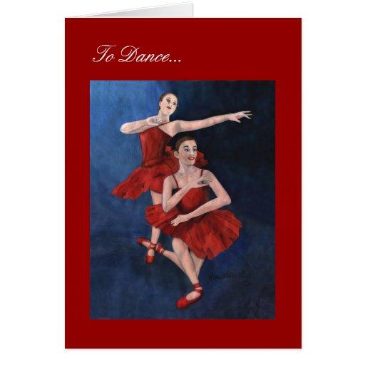 Para bailar tarjeta de felicitación