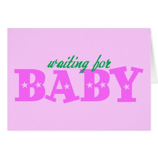 Para bebé que espera tarjeta de felicitación