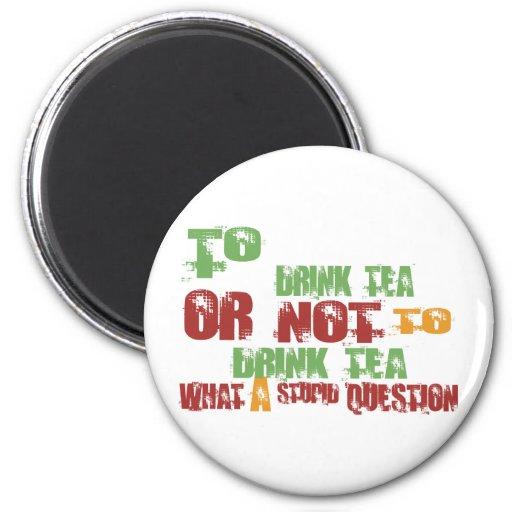 Para beber té iman para frigorífico