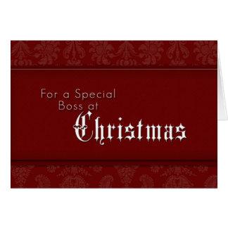 Para Boss especial en el navidad Tarjeta De Felicitación