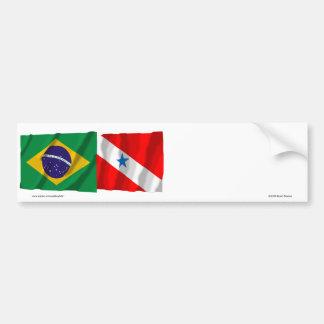 Pará & Brazil Waving Flags Bumper Sticker