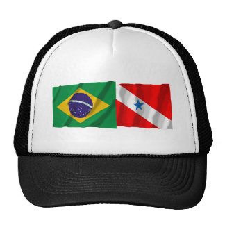 Pará & Brazil Waving Flags Trucker Hat