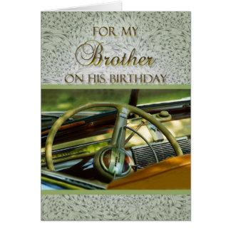 Para Brother en su coche de la obra clásica del Tarjeta De Felicitación
