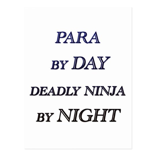 PARA BY DAY POSTCARD