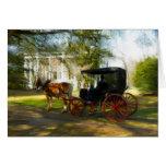 Para caballo y cochecillo de la belleza que tarjeta de felicitación
