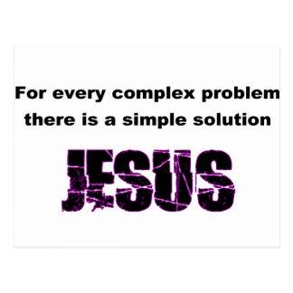 Para cada problema complejo, Jesús es la solución Postal